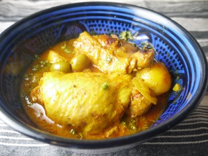 Lemon Chicken Tagine with Spicy Chermoula