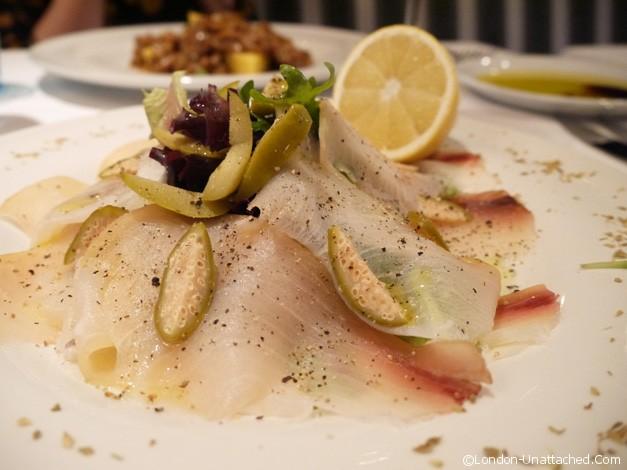 il calcio swordfish carpaccio