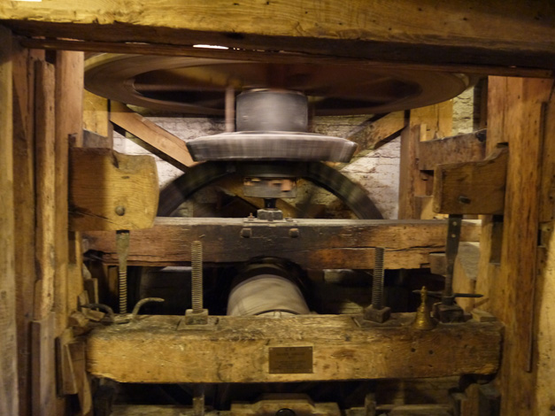 mapledurham mill - inside