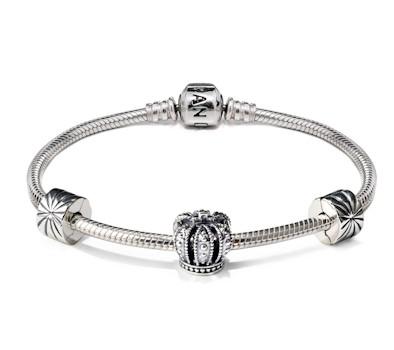 pandora crown charm bracelet