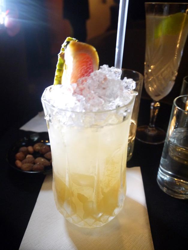 rev jw simpson cocktail tequilla sherry cobbler