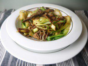 5:2 Spicy Beef Stir-fry with Shirataki Noodles