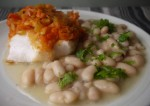 5-2 Diet Nduja Topped Cod with Lemon and Parsley Cannelli Beans