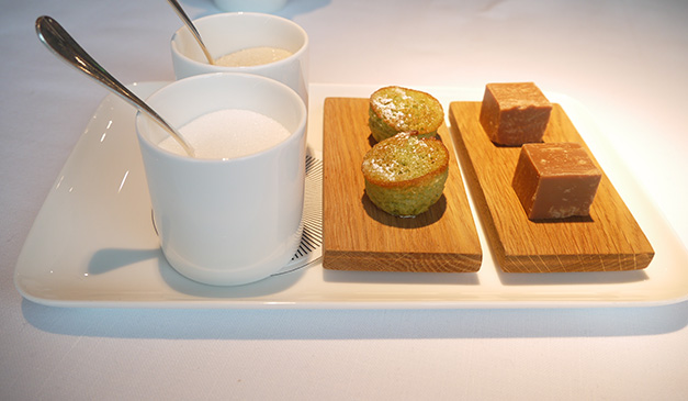 the Angler petit fours City of London