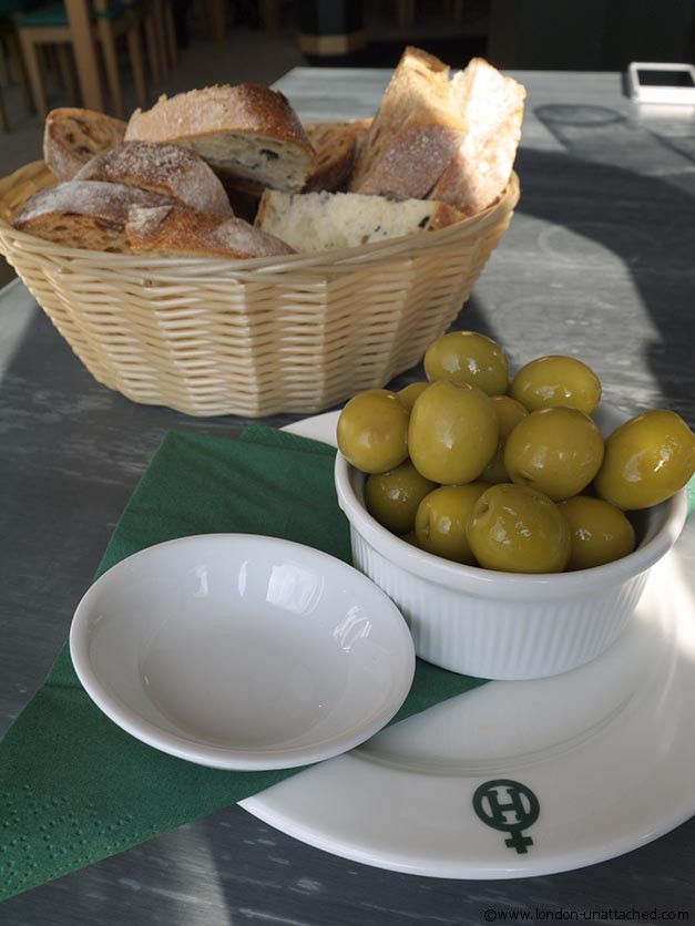 Zoritas Kitchen Bread and Olives
