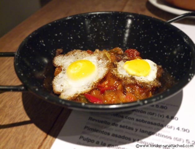boqueria tapas clapham ratatouille with quails eggs