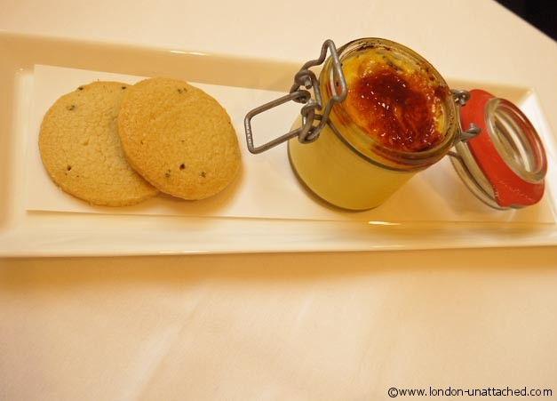 bond and brook orange creme brulee with lavender shortbread