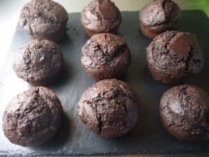 Chocolate Banana Rum Muffins