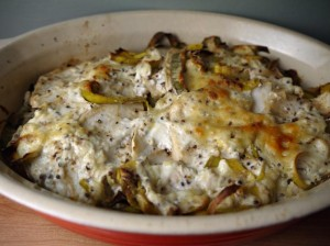 Low Calorie Leek and Celeriac Gratin for 5-2 diet