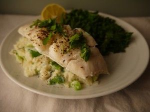 Low Calorie Oven Steamed Cod with Celeriac Champ