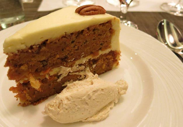 palm restaurant knightsbridge carrot cake