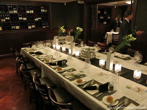 palm restaurant private dining room