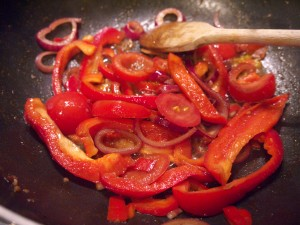 Cooking beef saltado again