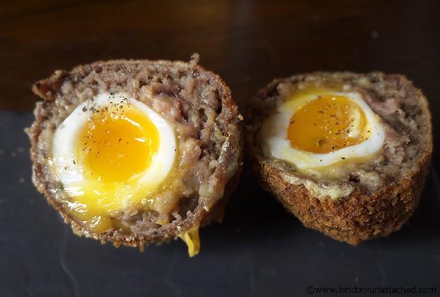The Spaniards Inn - Haggis Wrapped Scotch Eggs