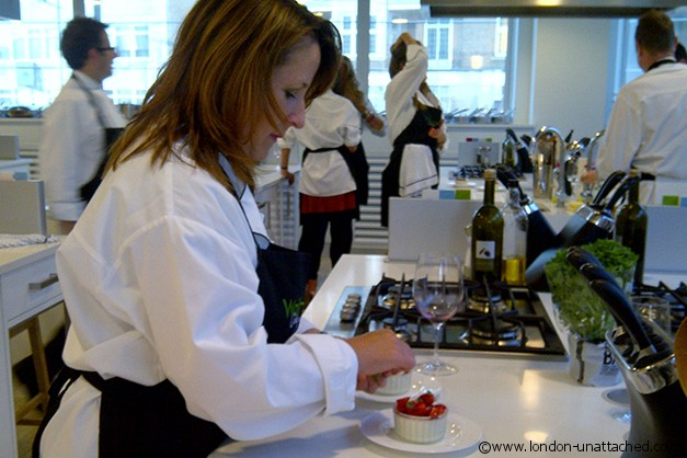 sarah at Waitrose Cookery School 2