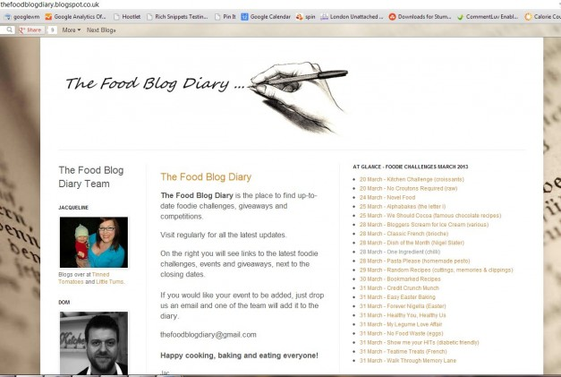 the food blog diary