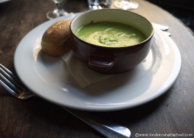 the lady Ottoline - Pea and Ham Hock Soup