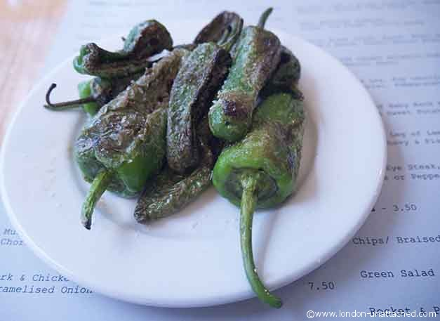 Padron Peppers at Sams Brasserie