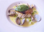 Roast Cod with Clams - Sams Brasserie