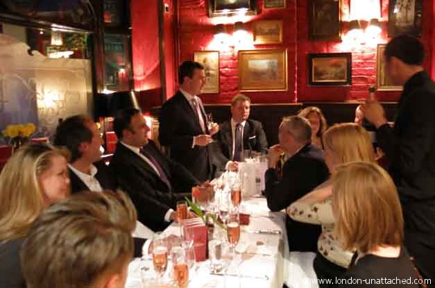 boisdale belgravia champagne dinner with bollinger