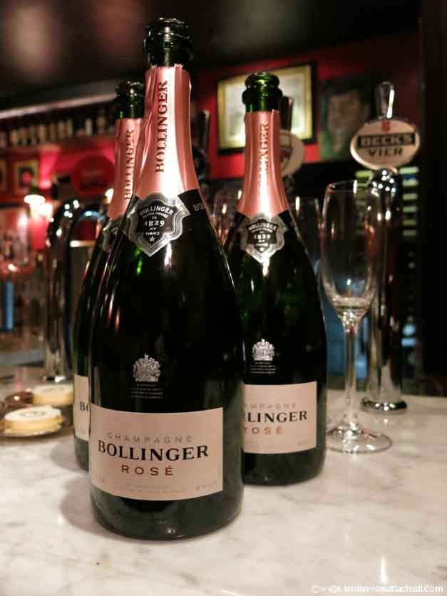 bollinger champagne at boisdale belgravia dinner