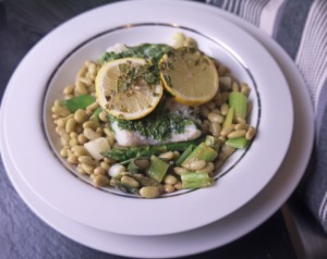 5-2 diet low calorie lemon cod with flageolet beans