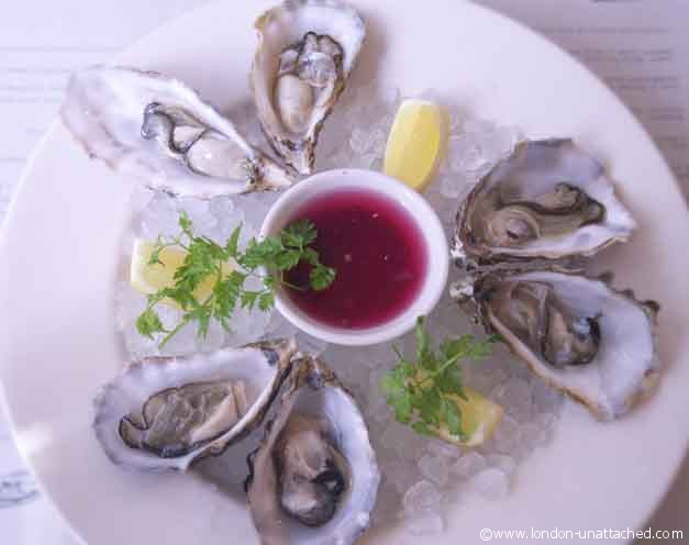 oysters at Sam's Brasserie