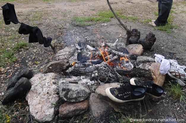Faia Brava socks shoes and bare feet