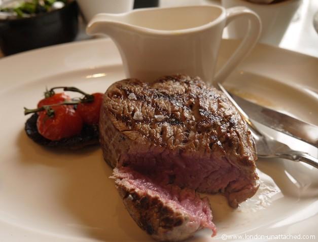London Unattached enjoys Fillet Steak Gillrays