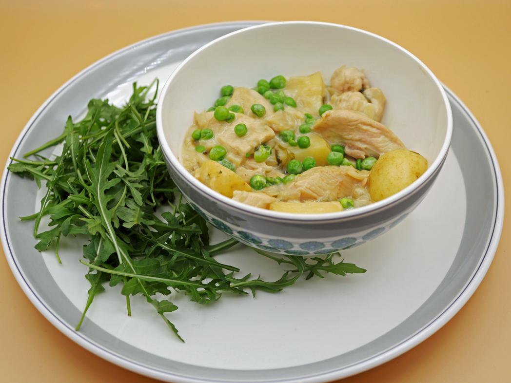 Tarragon Chicken with Peas