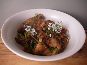 5-2 Diet Stir Fry Chicken and Watercress with Shirataki Noodles