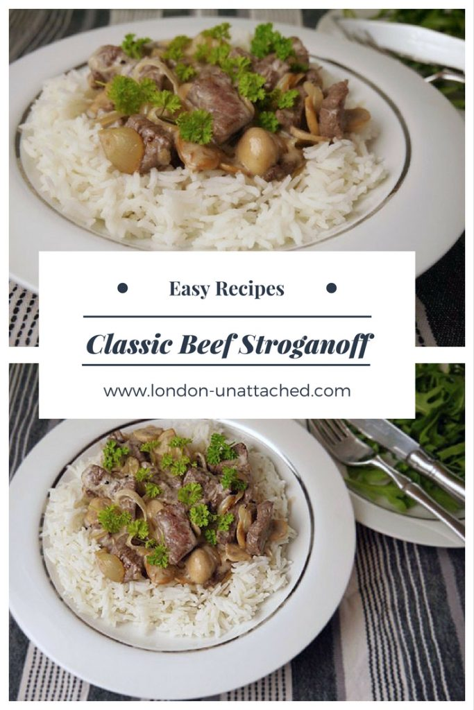 Beef Stroganoff Recipe - classic beef stroganoff