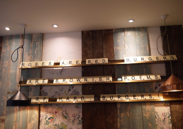 GBK wall art Gourmet Burger Kitchen