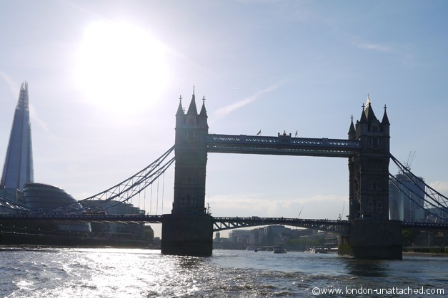 London Unattached tower bridge