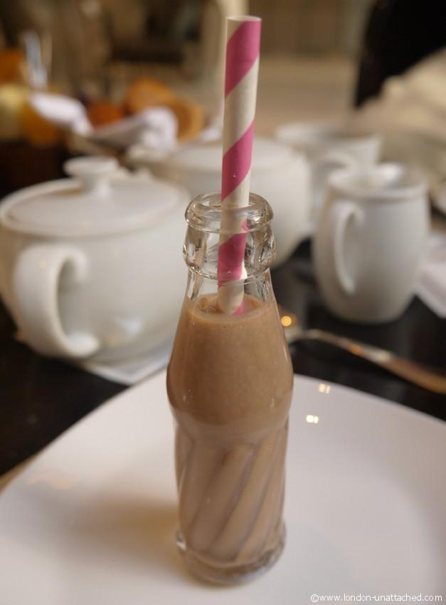 One Aldwych chocolate milk