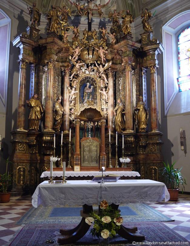 Osijek altar franciscan Monastery