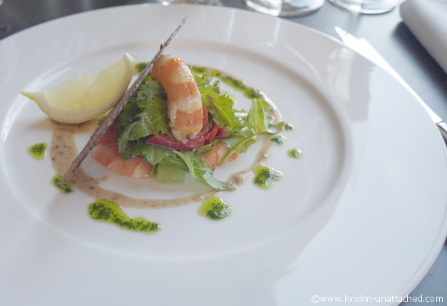 Royal Albert Hall Coda Restaurant prawns
