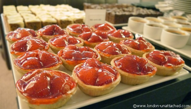 Strawberry tarts - Mercure London Bridge