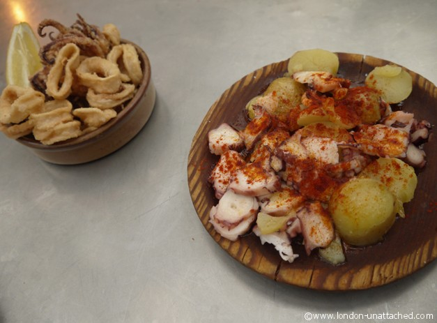 Tapas Revolution - octopus and fried squid