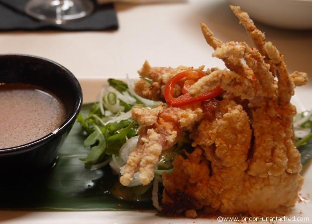 soft shelled crab itsu