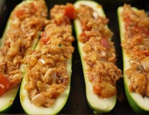 5-2 diet recipe turkey stuffed courgettes