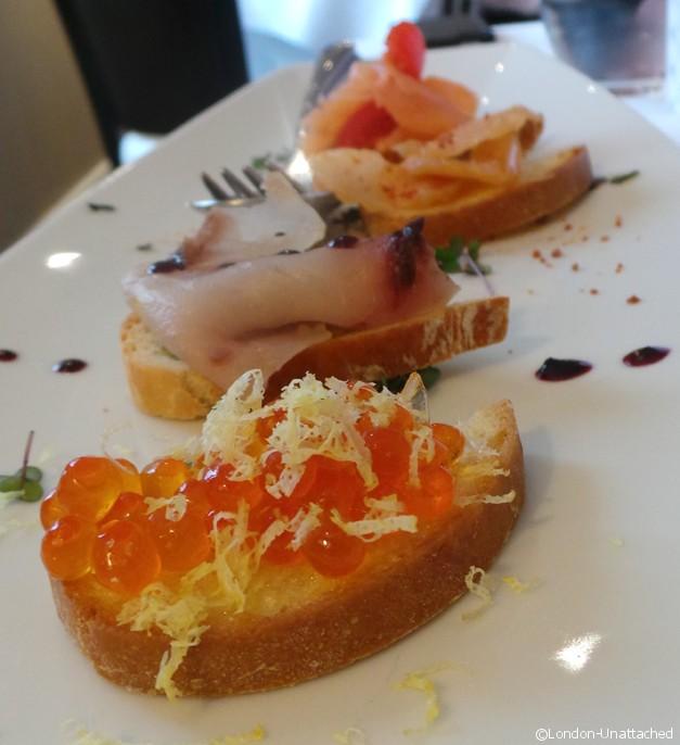 Acciuga seafood Crostini