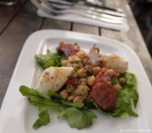 Brockwell Park Lido Cafe Review - Octopus and Chorizo