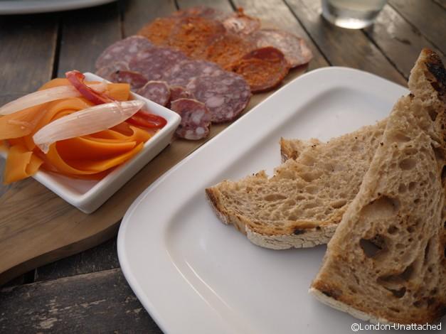 Brockwell Park Lido cafe Charcuterie Platter