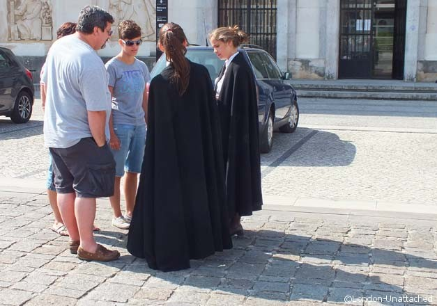 Coimbra University Students in Cloaks