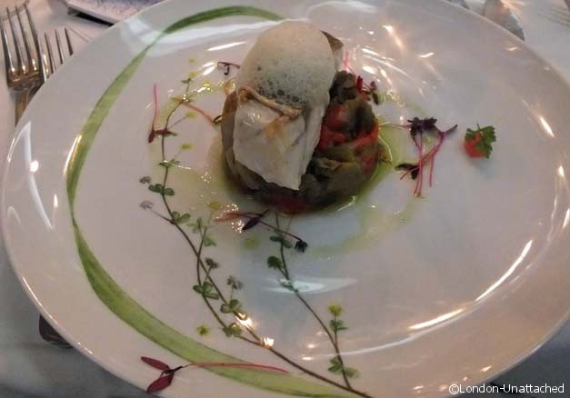 Coimbra Grouper served on roasted peppers