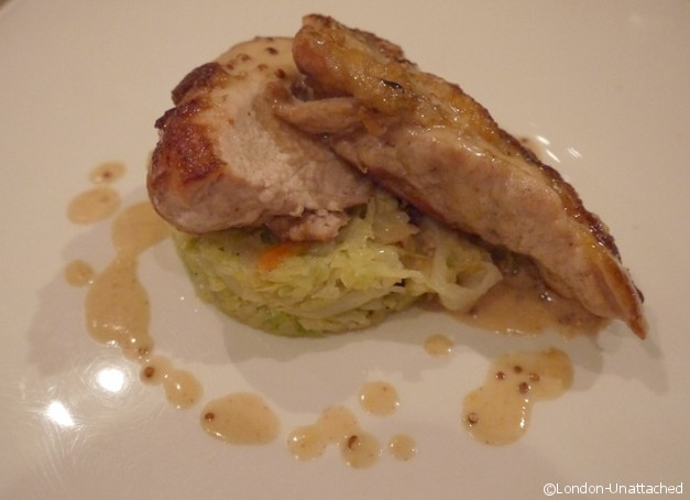 Brasserie Toulouse Lautrec Guinea Fowl Breast with a Mustard Cream Sauce