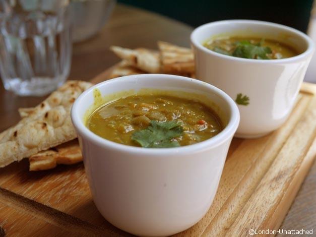 Harrisons Indian menu - lentil soup
