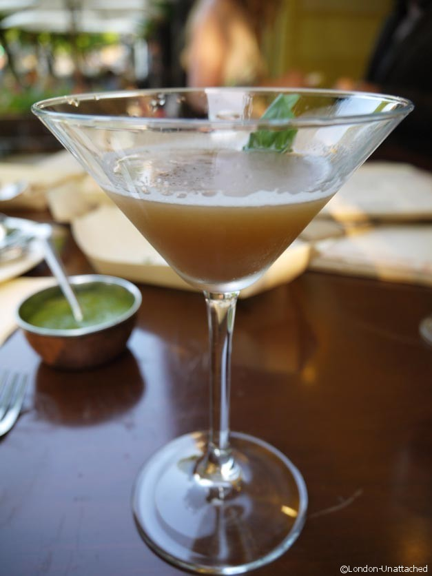 Potli basil and tamarind martini