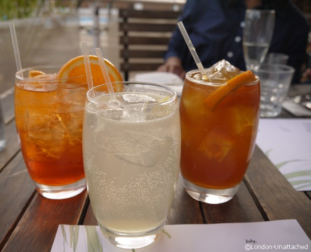 Trio of Cocktails - brockwell park lido cafe review
